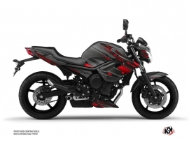Yamaha XJ6 Street Bike Night Graphic Kit Black Red