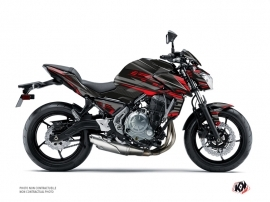 Kawasaki Z 650 Street Bike Night Graphic Kit Black Red