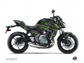 Kawasaki Z 650 Street Bike Night Graphic Kit Black Green