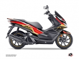 Honda PCX 125 Maxiscooter Run Graphic Kit Black