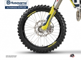 Graphic Kit Wheel decals Nova Dirt Bike Husqvarna TC-FC TE-FE Black