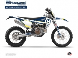 Husqvarna 125 TE Dirt Bike Nova Graphic Kit Blue