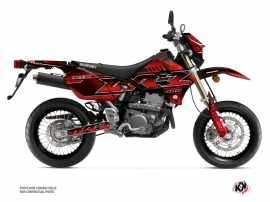Suzuki DRZ 400 SM Street Bike Oblik Graphic Kit Red