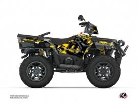 Polaris 570 Sportsman ATV Ohlins Graphic Kit Grey Yellow