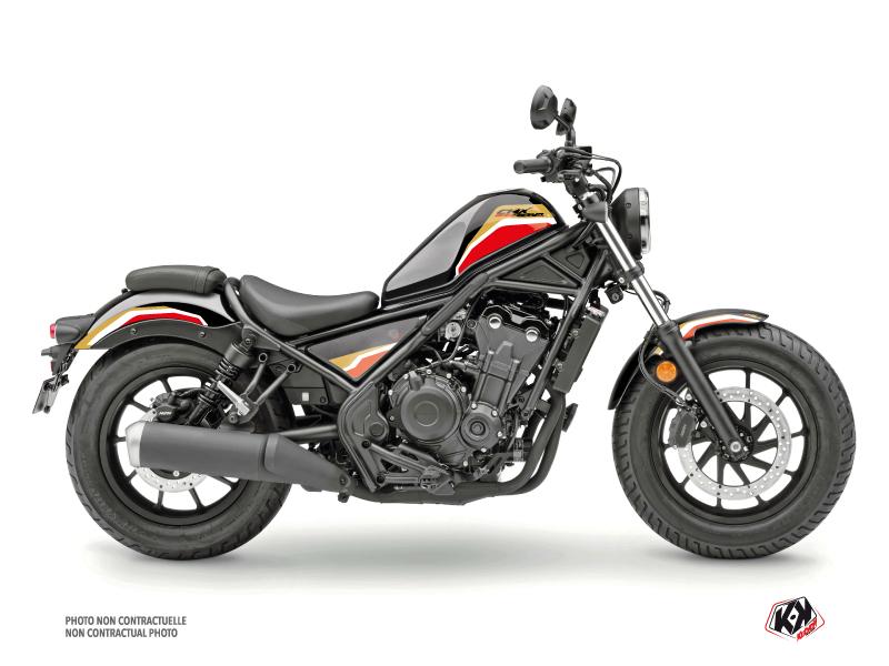 Honda CMX 500 Rebel Street Bike Run Graphic Kit Black