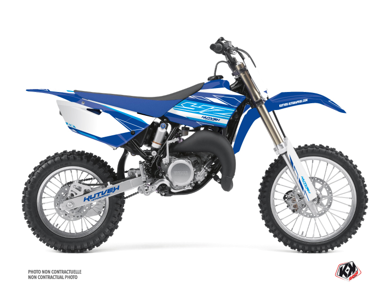 Yamaha 85 YZ Dirt Bike Outline Graphic Kit Blue