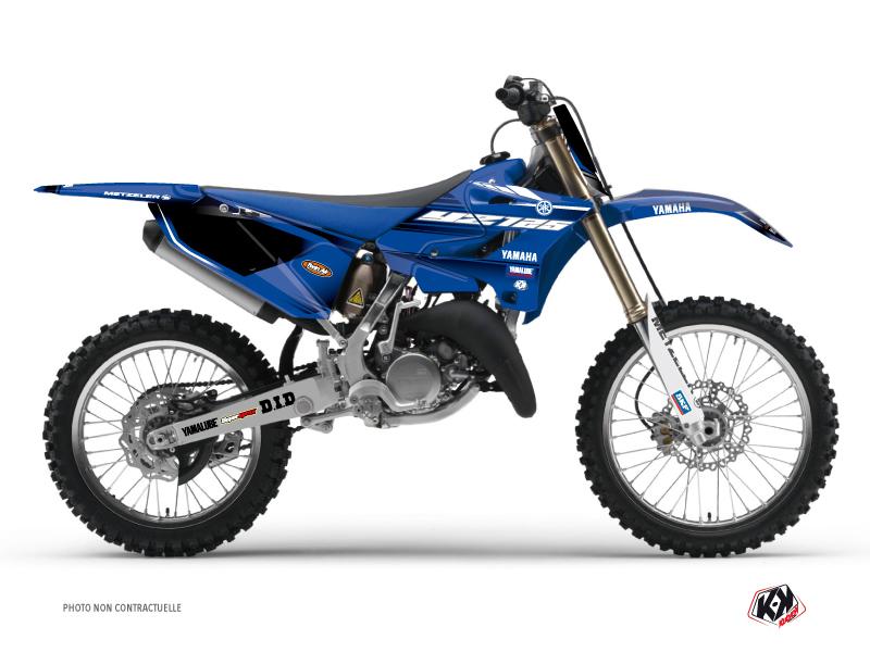 Kit Déco Moto Cross Basik Yamaha 125 YZ Bleu