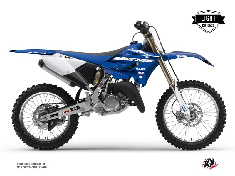 Kit Déco Moto Cross Basik Yamaha 125 YZ Bleu LIGHT