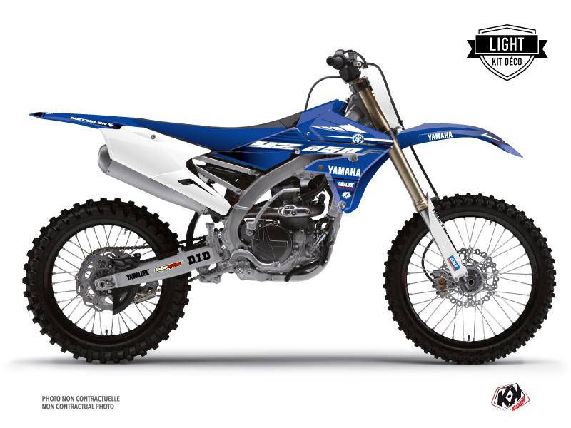 Yamaha 250 YZF Dirt Bike Basik Graphic Kit Blue LIGHT