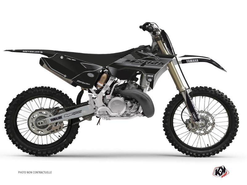 Kit Déco Moto Cross Black Matte Yamaha 125 YZ RTECH Revolution Noir