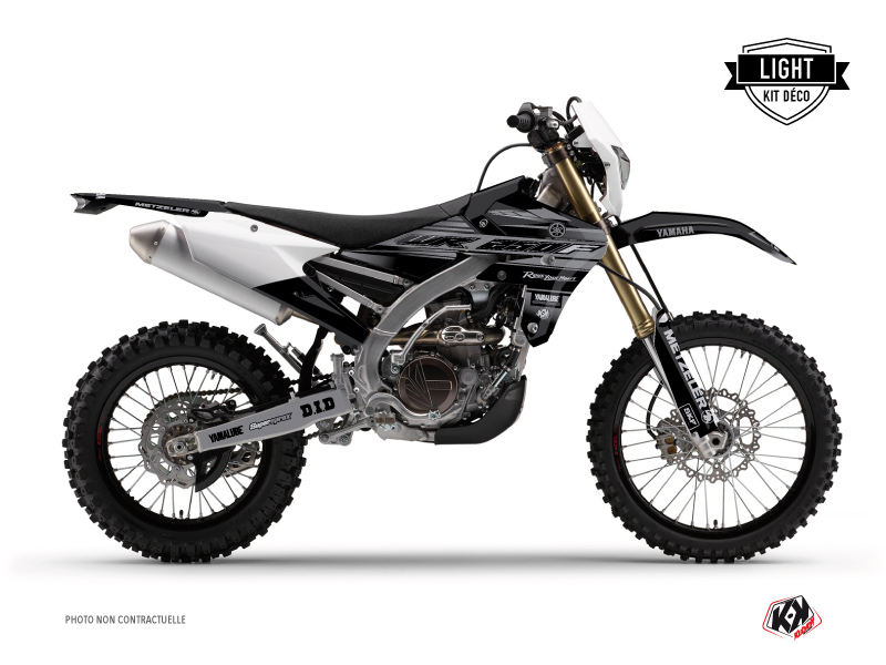 Kit Déco Moto Cross Black Matte Yamaha 250 WRF Noir LIGHT