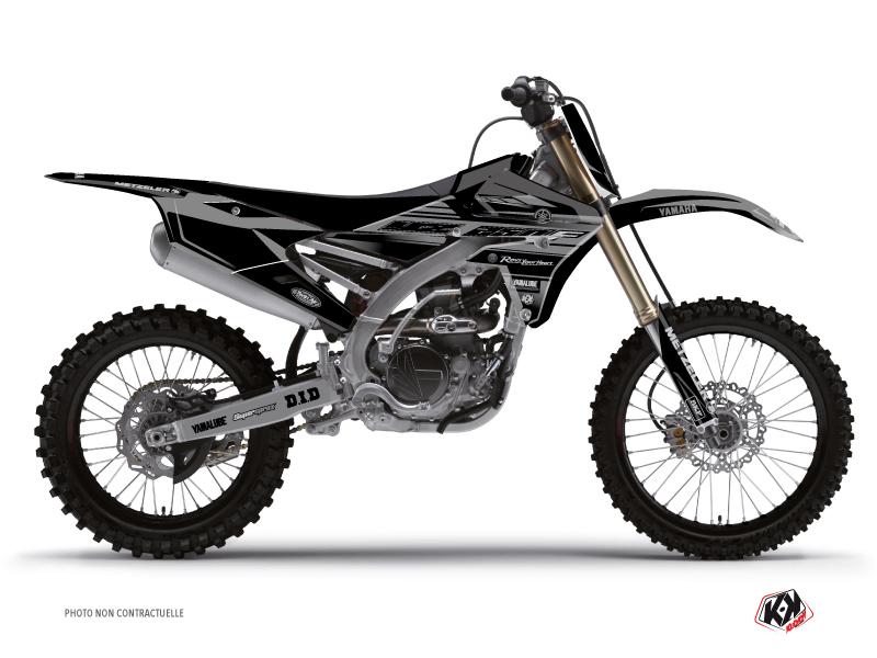 Yamaha 250 YZF Dirt Bike Black Matte Graphic Kit Black