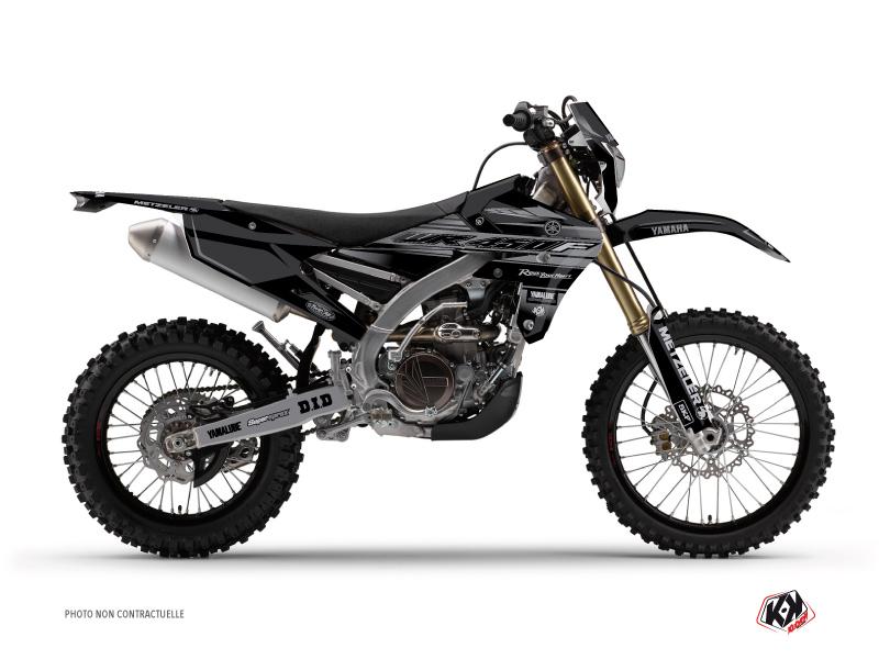 Yamaha 450 WRF Dirt Bike Black Matte Graphic Kit Black