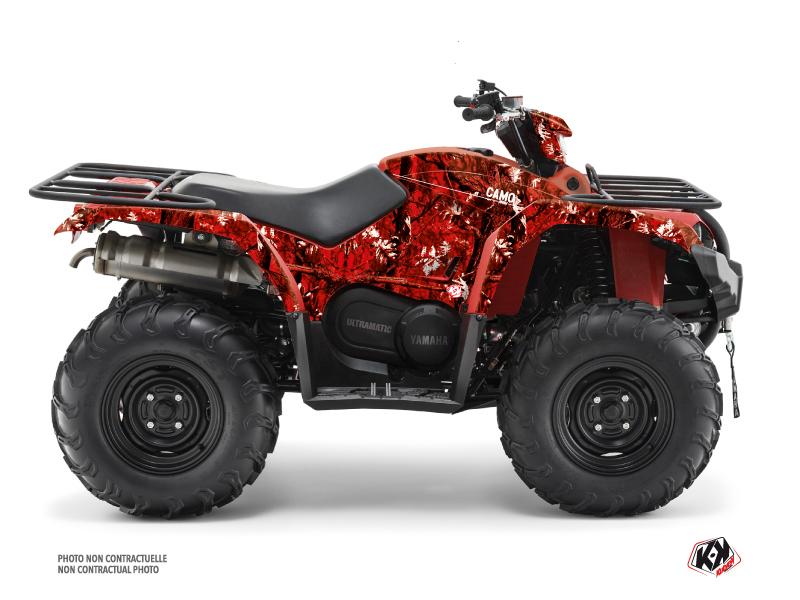 Yamaha 450 Kodiak ATV Camo Graphic Kit Red
