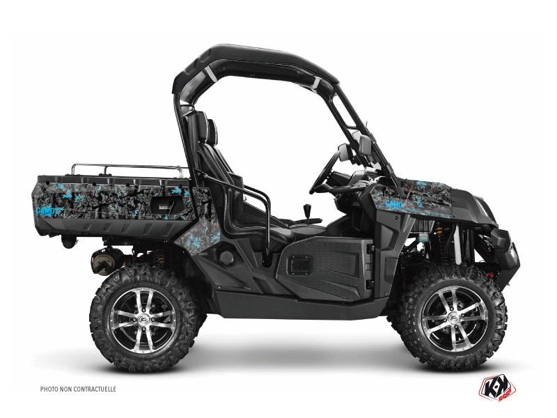 CF Moto U Force 800 UTV Camo Graphic Kit Black Blue