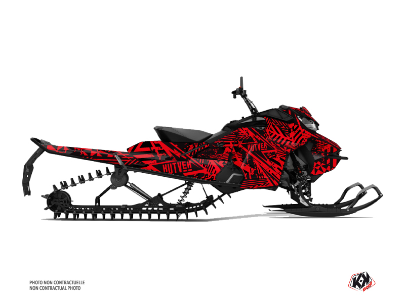 Skidoo Gen 4 Snowmobile Dizzee Graphic Kit Red