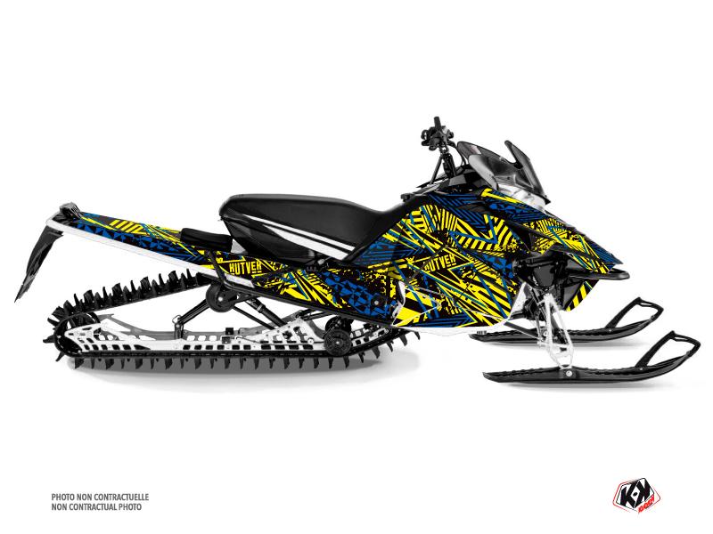 Yamaha Sidewinder Snowmobile Dizzee Graphic Kit Yellow