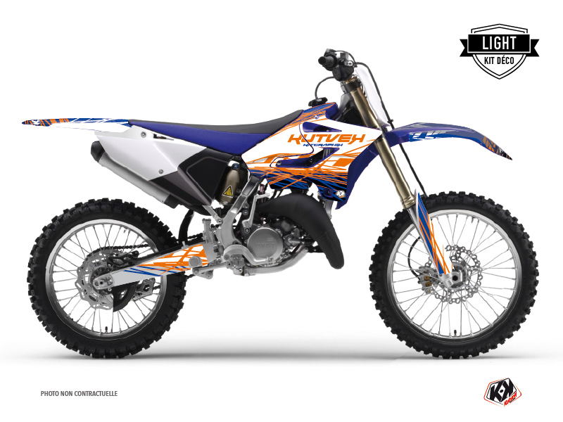 Yamaha 250 YZ Dirt Bike Eraser Graphic Kit Blue Orange LIGHT