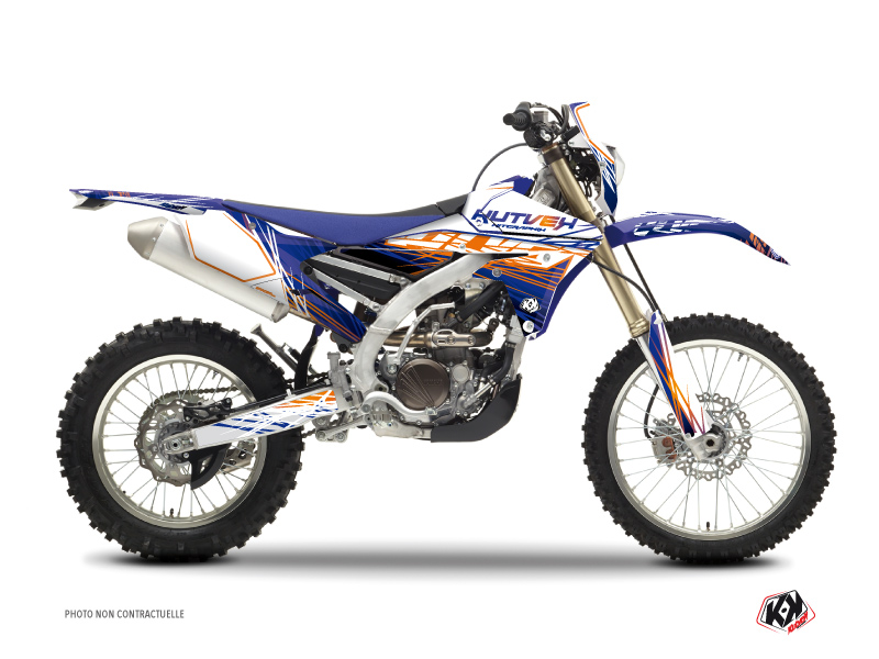 Yamaha 250 WRF Dirt Bike Eraser Graphic Kit Blue Orange