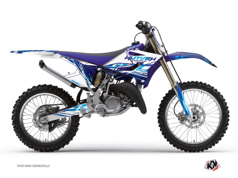 Kit Déco Moto Cross Eraser Yamaha 250 YZ Bleu