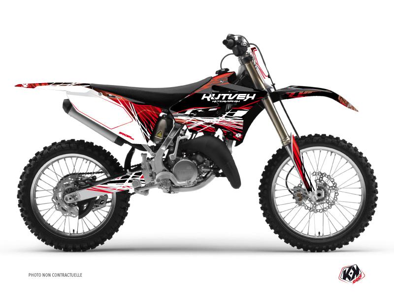 Yamaha 250 YZ Dirt Bike Eraser Graphic Kit Red White