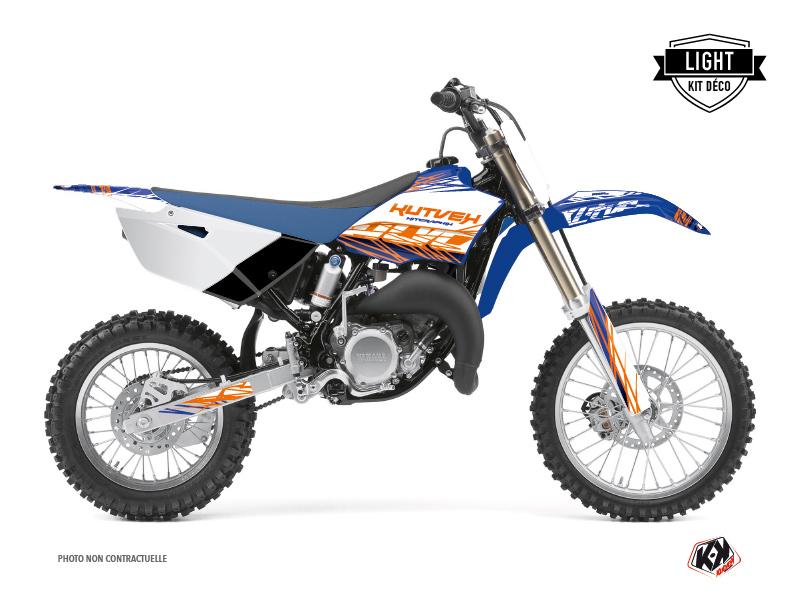 Yamaha 85 YZ Dirt Bike Eraser Graphic Kit Blue Orange LIGHT