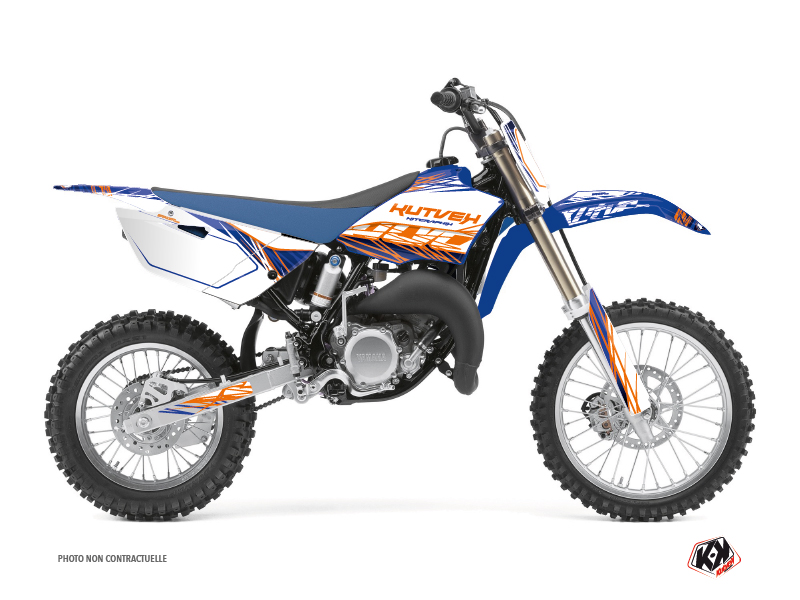 Yamaha 85 YZ Dirt Bike Eraser Graphic Kit Blue Orange