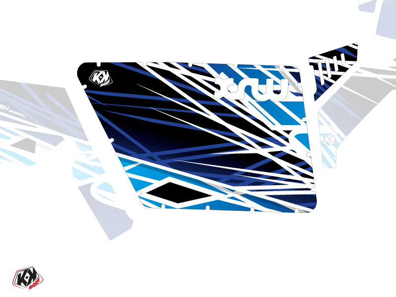 Graphic Kit Doors Standard XRW Eraser UTV Polaris RZR 570/800/900 2008-2014 Blue
