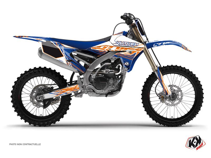 Yamaha 250 YZF Dirt Bike Eraser Graphic Kit Blue Orange
