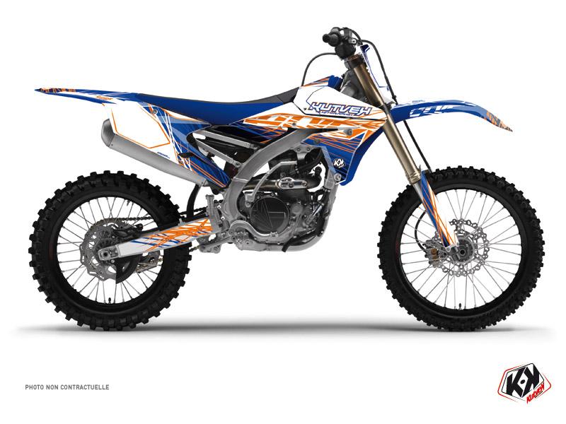 Kit graphique Moto Cross Eraser Yamaha 450 YZF Bleu Orange