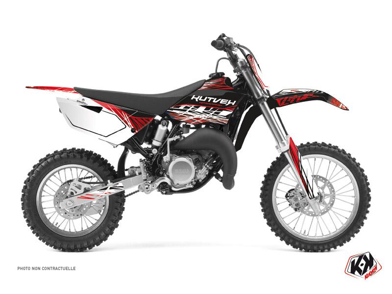 Kit graphique Moto Cross Eraser Yamaha 85 YZ Rouge Blanc