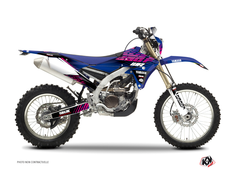 Kit Déco Moto Cross Flow Yamaha 250 WRF Rose