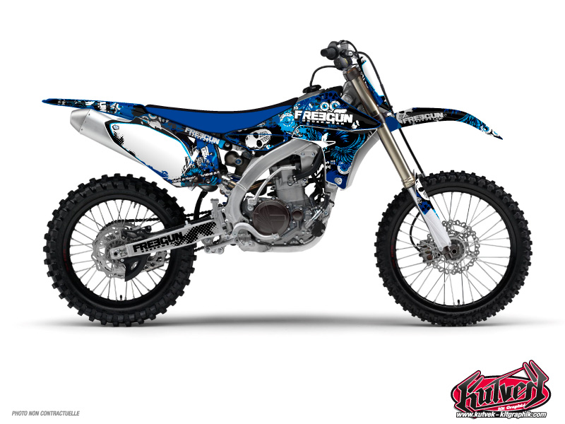 Yamaha 125 YZ Dirt Bike Freegun Graphic Kit