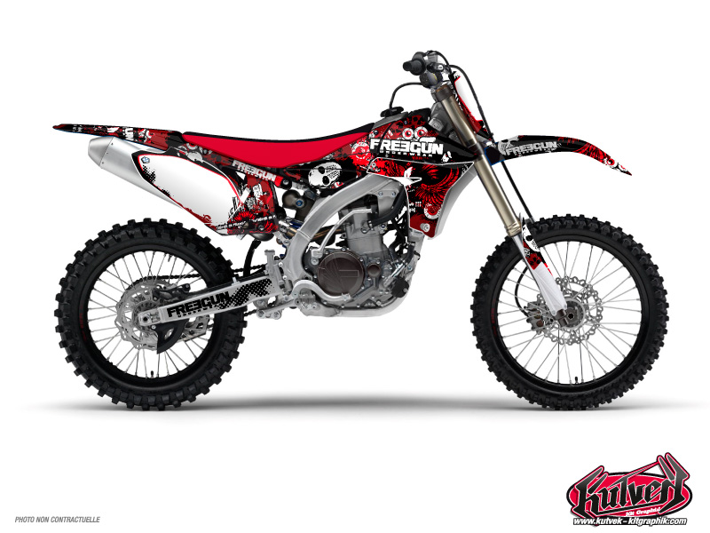 Yamaha 450 YZF Dirt Bike Freegun Graphic Kit Red