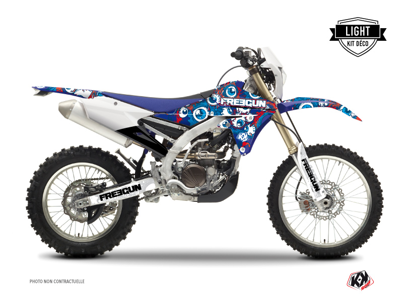Yamaha 250 WRF Dirt Bike Freegun Eyed Graphic Kit Red LIGHT