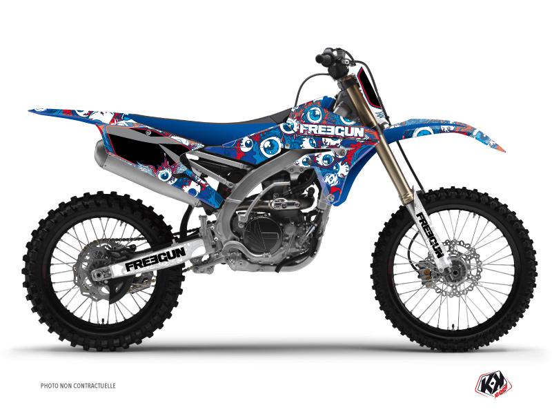 Yamaha 250 YZF Dirt Bike Freegun Eyed Graphic Kit Red