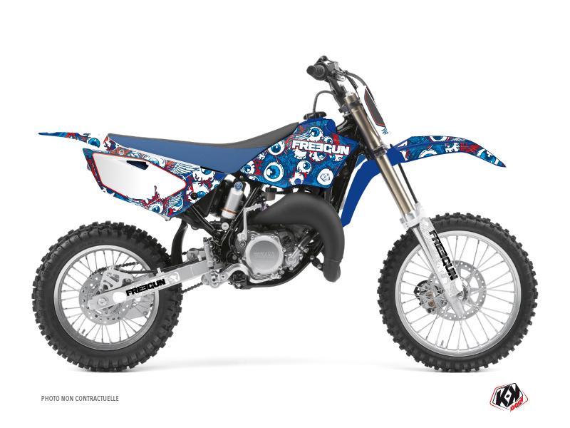 Yamaha 85 YZ Dirt Bike Freegun Eyed Graphic Kit Red