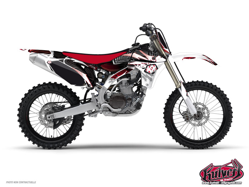 Yamaha 125 YZ Dirt Bike Graff Graphic Kit Red