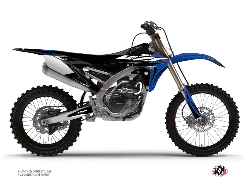Kit Déco Moto Cross Halftone Yamaha 450 YZF Noir Bleu
