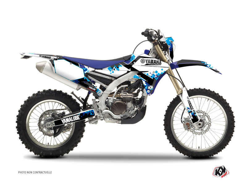 Yamaha 250 WRF Dirt Bike Hangtown Graphic Kit Blue