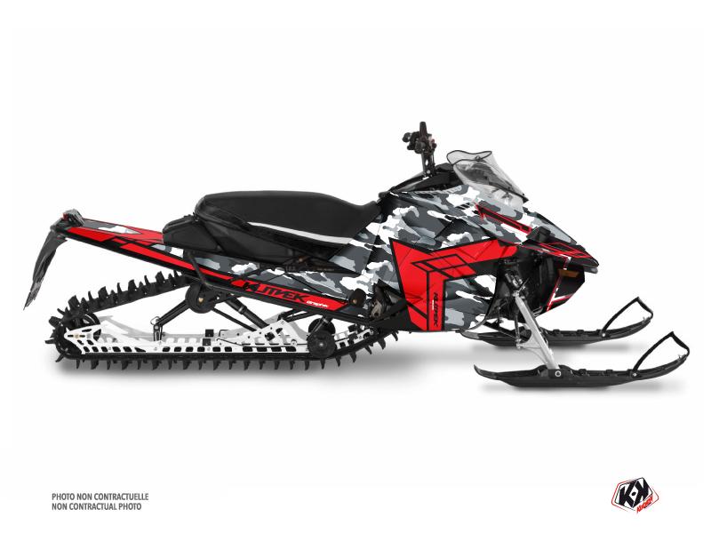 Yamaha Sidewinder Snowmobile Kamo Graphic Kit Grey Red