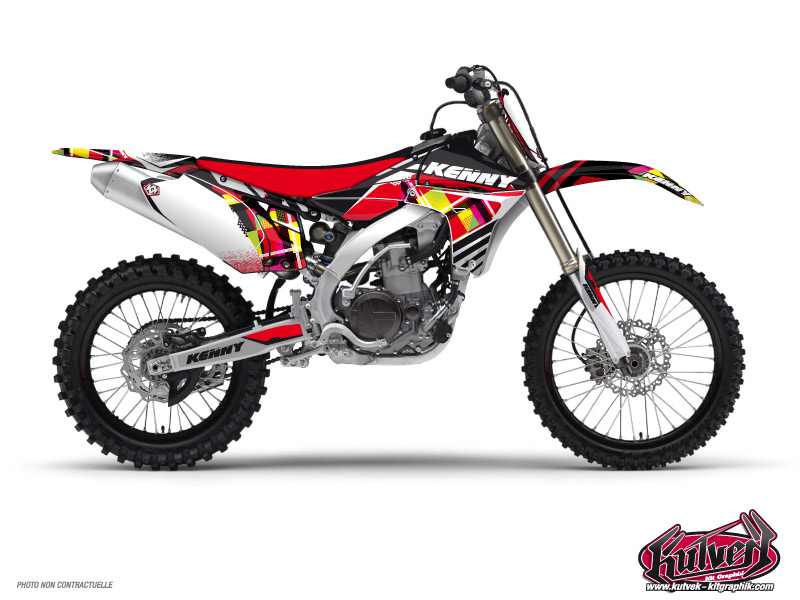 Yamaha 125 YZ Dirt Bike Kenny Graphic Kit Red