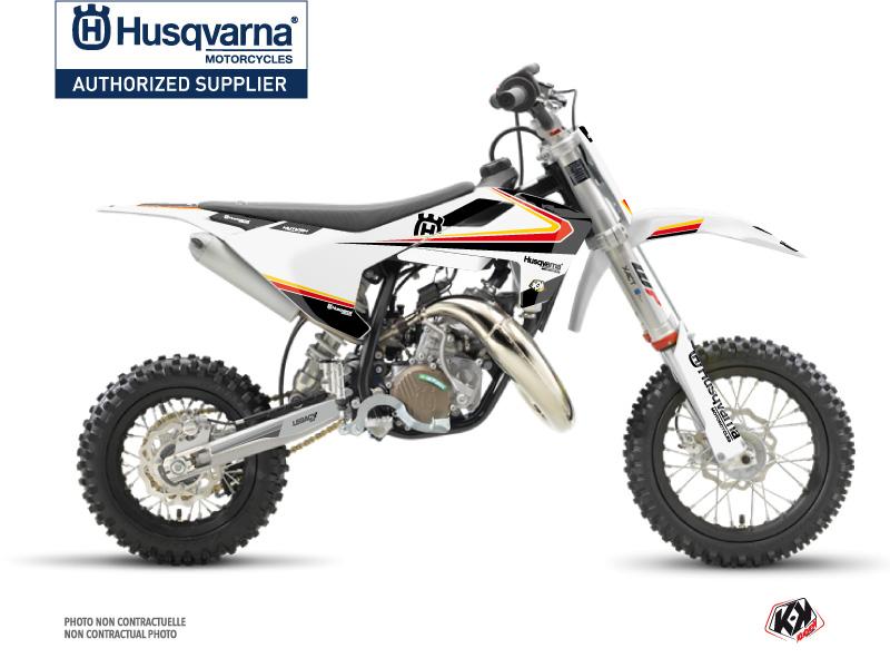 Husqvarna TC 50 Dirt Bike Legacy Graphic Kit Black Yellow