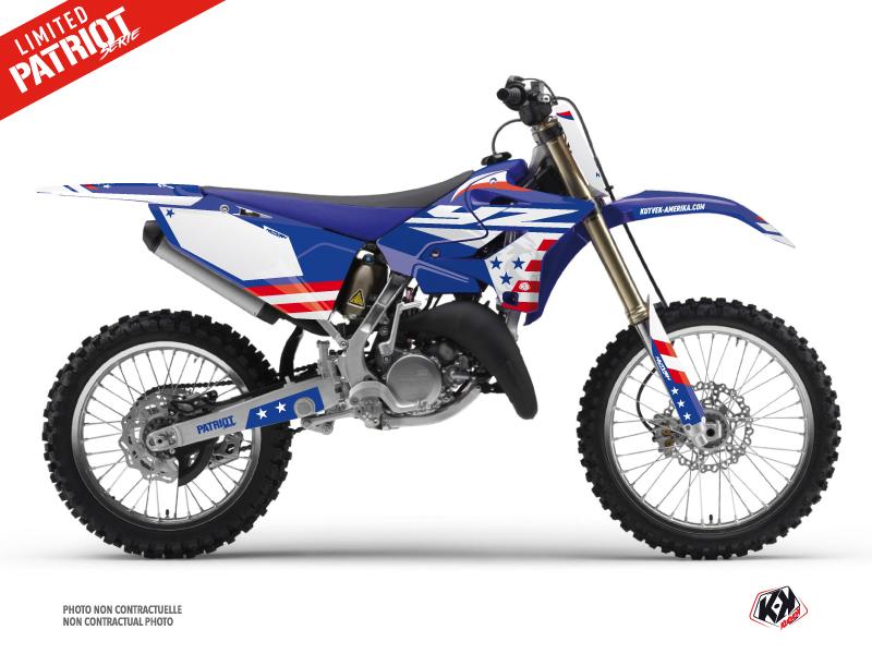 Yamaha 125 YZ Dirt Bike Patriot Graphic Kit Blue