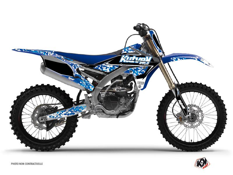 Yamaha 250 YZF Dirt Bike Predator Graphic Kit Blue