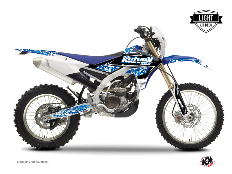 Kit Déco Moto Cross Predator Yamaha 450 WRF Bleu LIGHT