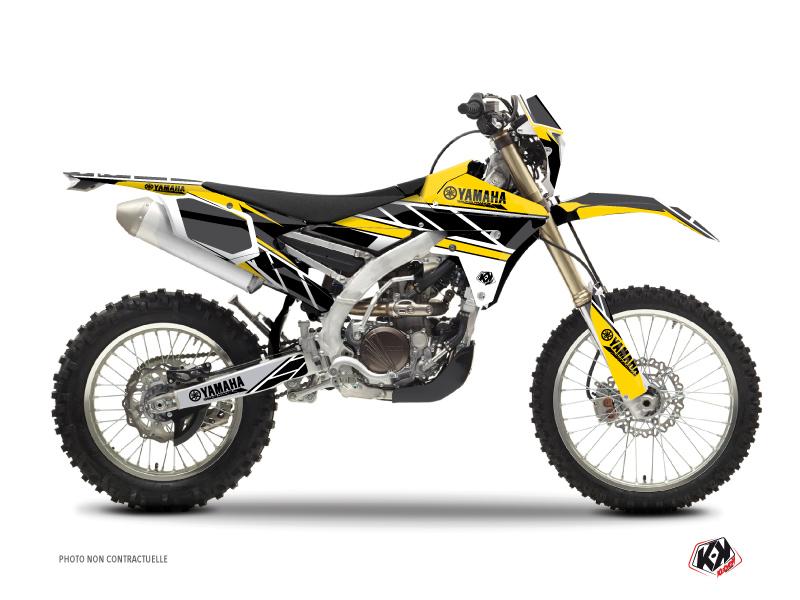 Kit Déco Moto Cross Replica Yamaha 250 WRF Jaune
