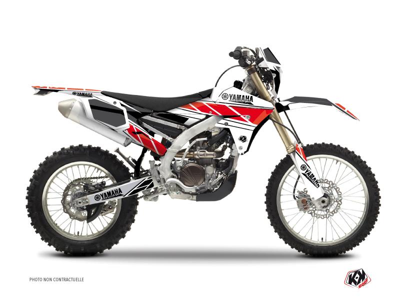 Kit Déco Moto Cross Replica Yamaha 250 WRF Rouge