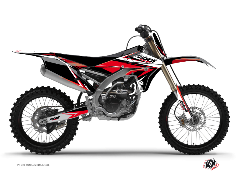Kit Déco Moto Cross Stage Yamaha 250 YZF Noir Rouge