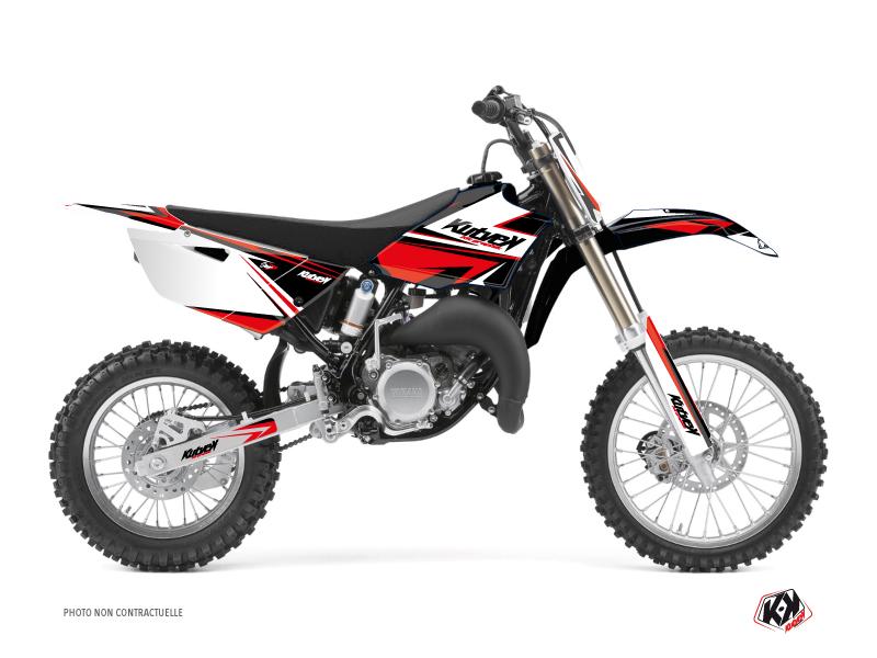 Kit Déco Moto Cross Stage Yamaha 85 YZ Noir Rouge